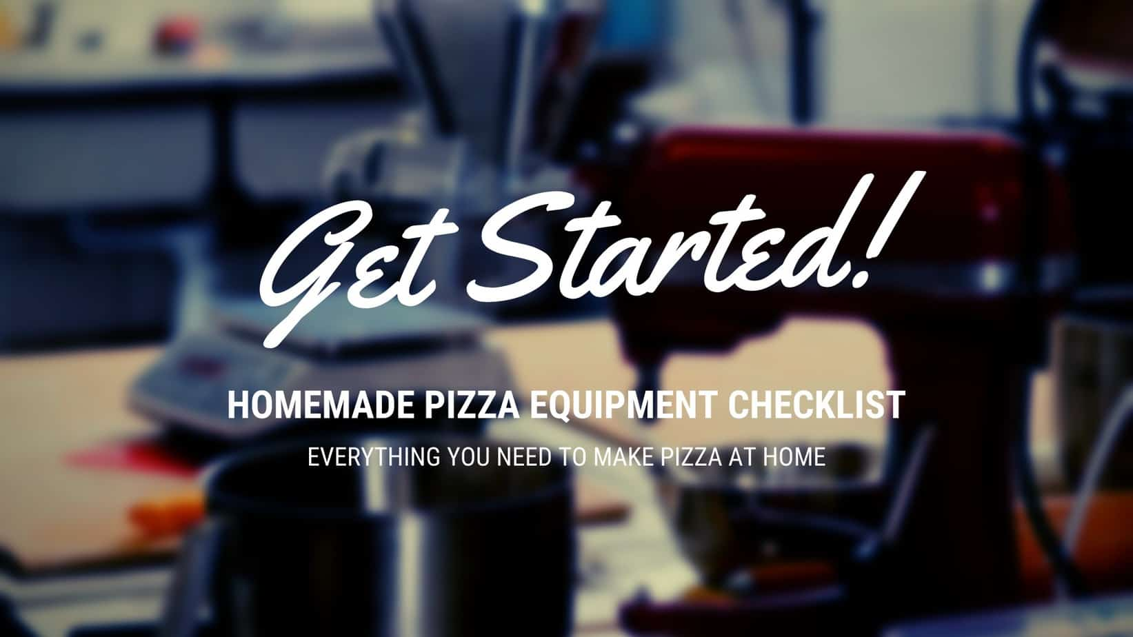 pizza equipment to get started image