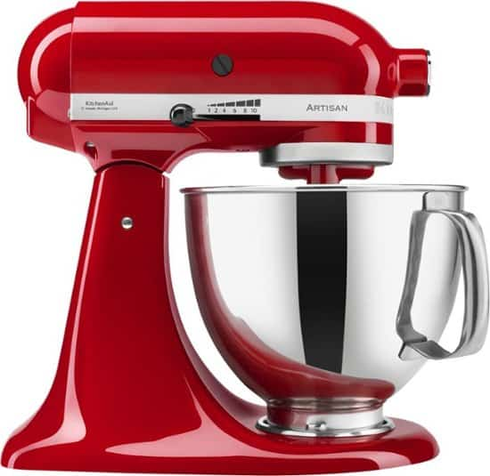Red Kitchen-Aid Stand Mixer