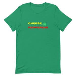 Green Cheese and Pepperoni Pizza T-Shirt Unisex