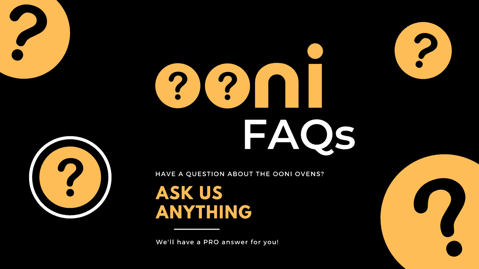 Ooni pizza oven faqs